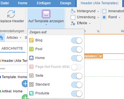 Themler.de - Gleiche Steuerungen in verschiedenen Vorlagen